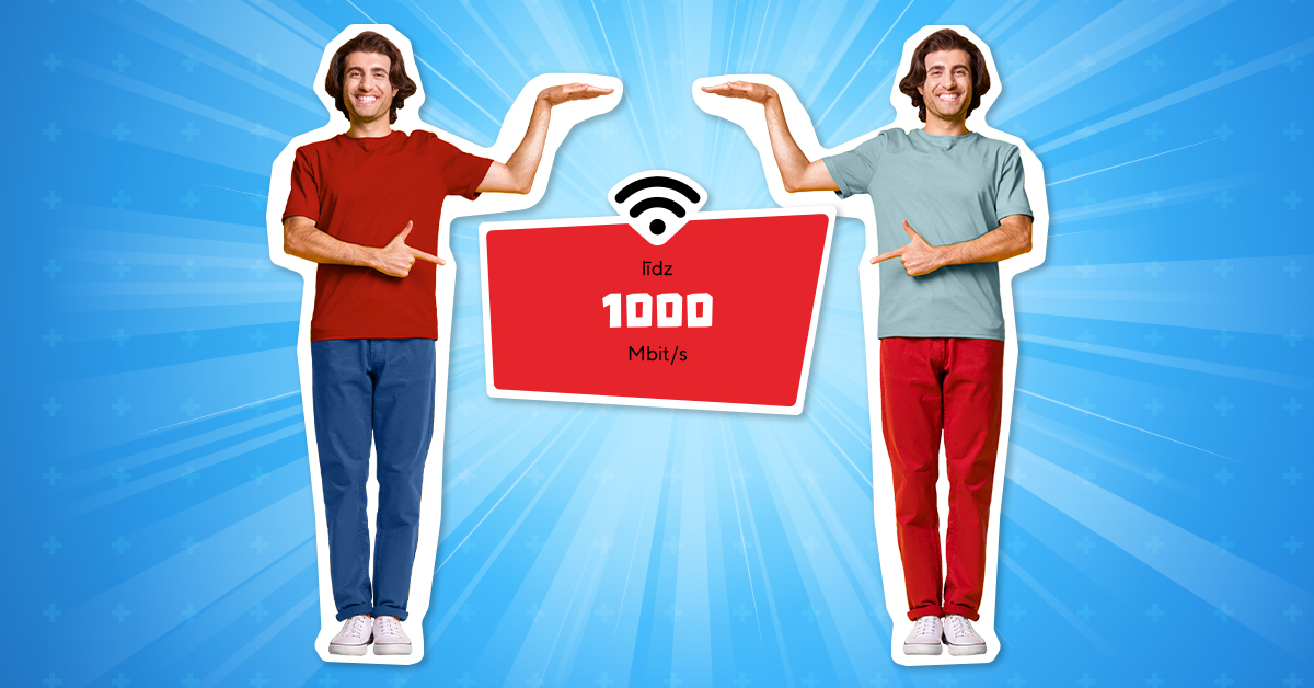 Ātrs un stabils </br>internets