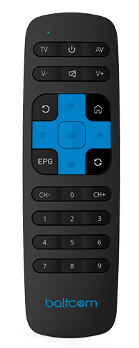 Baltcom IPTV pults